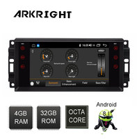 ARKRIGHT 8 Android Car Radio for Jeep Grand Cherokee/compass/Commander 4+32gb Car Player GPS/autoradio/car DVD player/ with DSP
