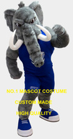 High Quality Grey Mastadon Elephant Mascot Costume Elephant Theme Anime Cosply Costumes Carnival Fancy Dress Mascotte