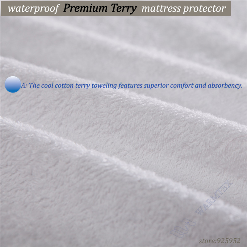 Cheap Terry cloth waterproof Customized Cloth Mattress Cover 100% Waterproof -W020 cheap price A