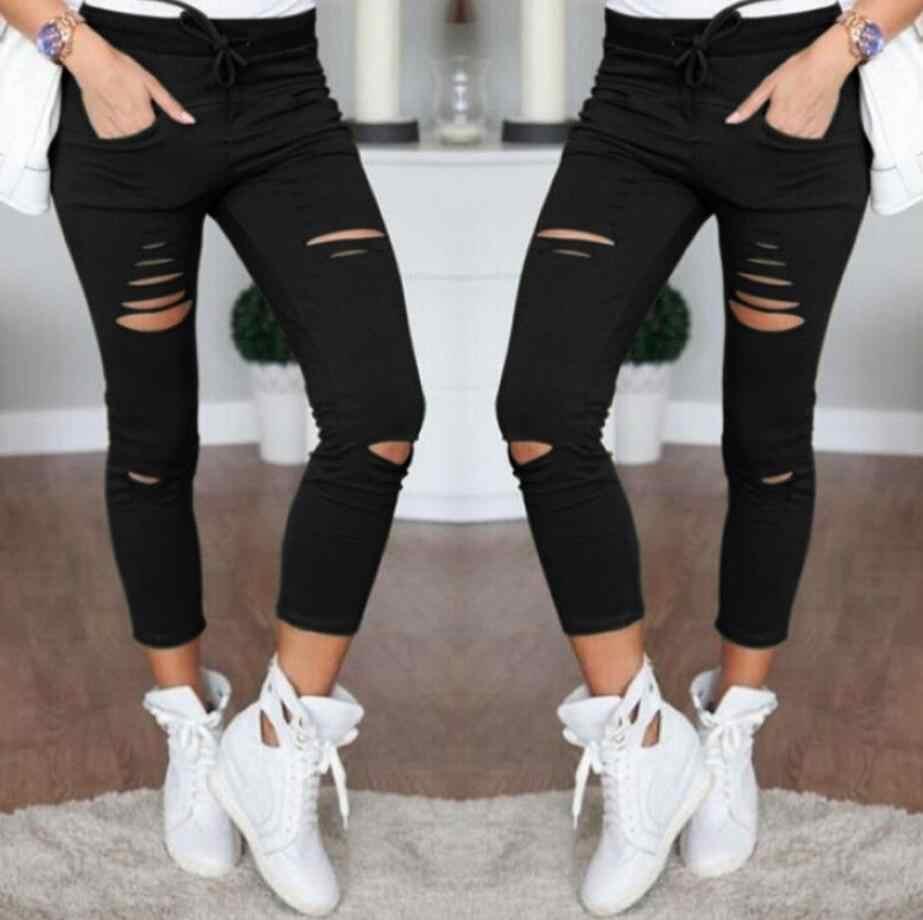 2bc77c3eca898 High Waist Jeans For Women Stretch Black Jeans 2018 Female Pants Skinny  Trousers Women Jeans Denim