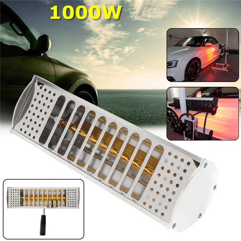 1000W Hand Held Spray/Baking Infrared Paint Curing Heating Lamp Body Shop Booth цена