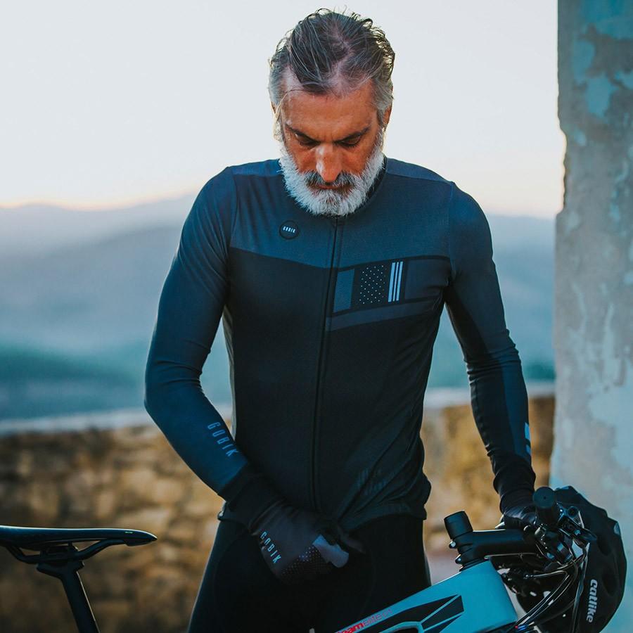 2018 Spanje top kwaliteit Winter Thermische fleece Truien lange mouw wielershirts bib broek fiets set ras fit fietsen kleding