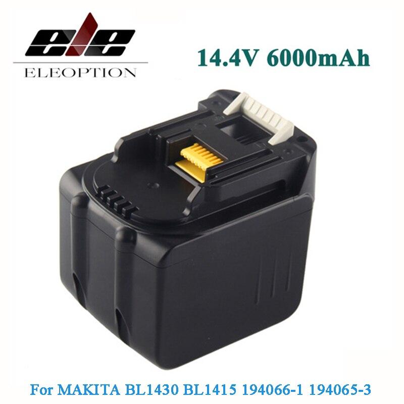 6000mAh 14.4V 6.0mAh Li-Ion Battery For MAKITA BL1430 BL1415 194066-1 194065-3 194559-8 & 4.0mAh цена