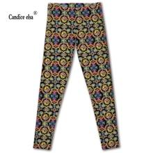 цены на Drop shipping high quality leggings women slim fashion gorgeous decorative pattern leggings digital print leggings plus size в интернет-магазинах