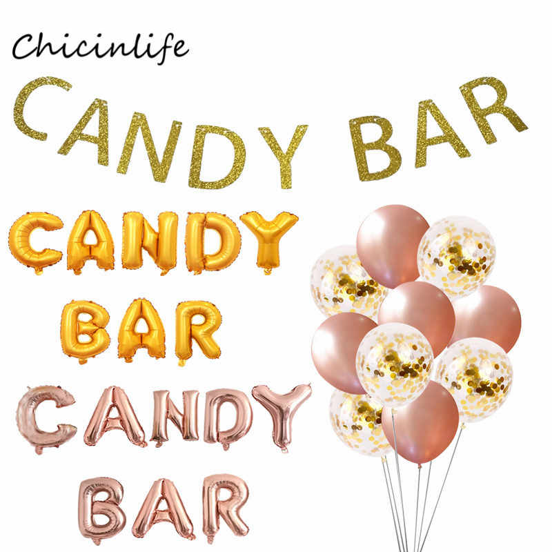 Chicinlife Candyar Balloon Banner Baby Shower Decoration Birthday Wedding candy bar Party Decoration Garland
