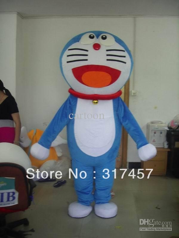Doraemon cat cartoon Mascot Costume Adult Character Costume Cosplay mascot costume free shipping