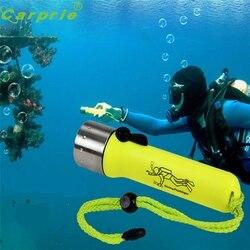 Super subaquática 1200lm cree xm-l xpe led mergulho lanterna tocha lâmpada luz à prova dwaterproof água 170118