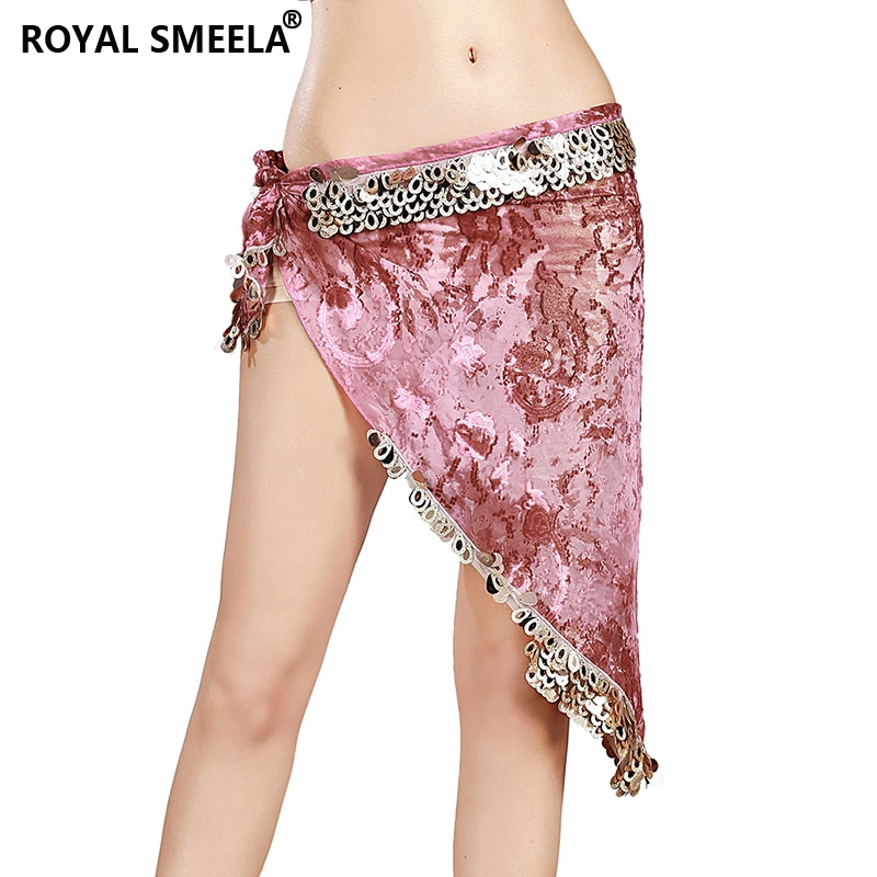 New Style Belly Dance Costumes Bellydance Belt Sequin Hip Scarf For Women Belly Dancing Floral Tribal Triangle Scarf Dance Belt