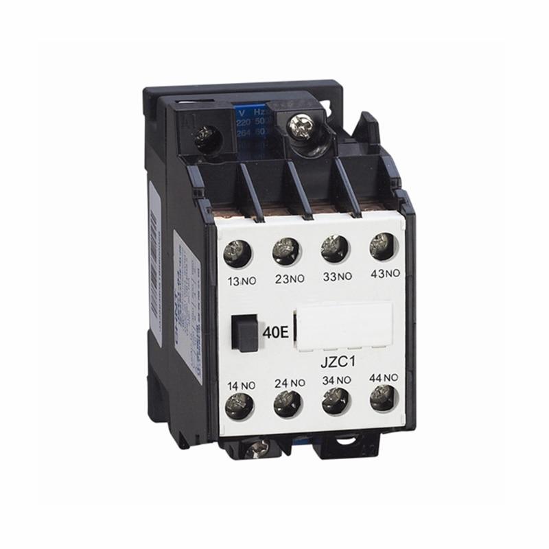 цена на AC Motor Contactor Relay Starter Ui 660V 4NO 4 Pole 24V 110V 220V 380V 50Hz Coil Volt Ith 10A JZC1-40 DIN Rail Mount Contactor