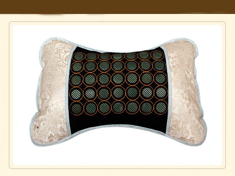 chaude tourmaline therapie par la chaleur produits tourmaline pierre de massage electrique masseur oreiller livraison gratuite
