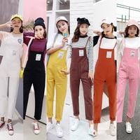 S XL 6 colors 2018 autumn Denim Jumpsuits for women 2018 harakuju Overalls korean style casual Jeans womens (C8361)