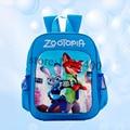 Дети рюкзаки Zootopia Холщовый Мешок дети рюкзак для мальчиков Джуди Хопс Ник Уайлд Zootropolis детей школьные сумки для Девочек