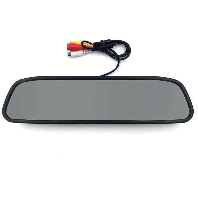 Carro HD de Vídeo de Estacionamento Auto Monitor LED de Visão Noturna câmara de Marcha Câmera do carro 4.3 de polegada Retrovisor Do Carro Monitor Espelho NTSC/PAL DC 12 V