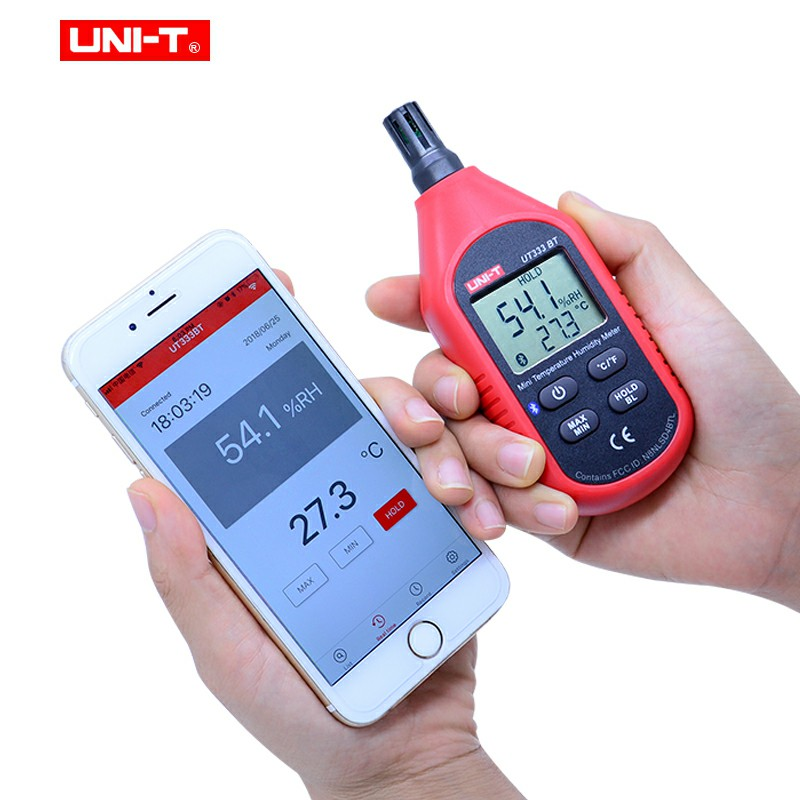Tools : UNI-T UT333BT UT353BT UT363BT UT383BT Digital humidity meter Mini Anemometer light meter LUX Digital sound meter