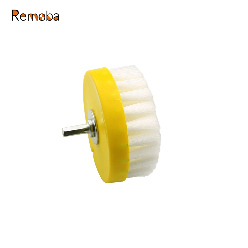 1 piece Dia. 110mm White Clean Brush used on Electric Drill for Fabric Sofa Carpet Leather Car interiors Cleaning