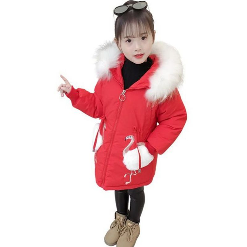 Girl Cotton Coat 2018 New Winter Girl Coat Thick Warm Parka Fur Collar Outerwear Fashion Trend Children Clothing LK228 tnlnzhyn women s clothing cotton coat winter new fashion big yards hooded fur collar thickening female cotton outerwear wu21