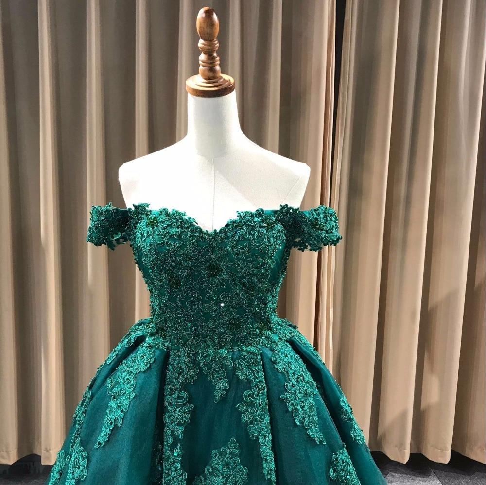 Realni uzorci Luksuzni izvan ramena Heavy Beaded Lace Ball Gown - Haljina za posebne prigode - Foto 2