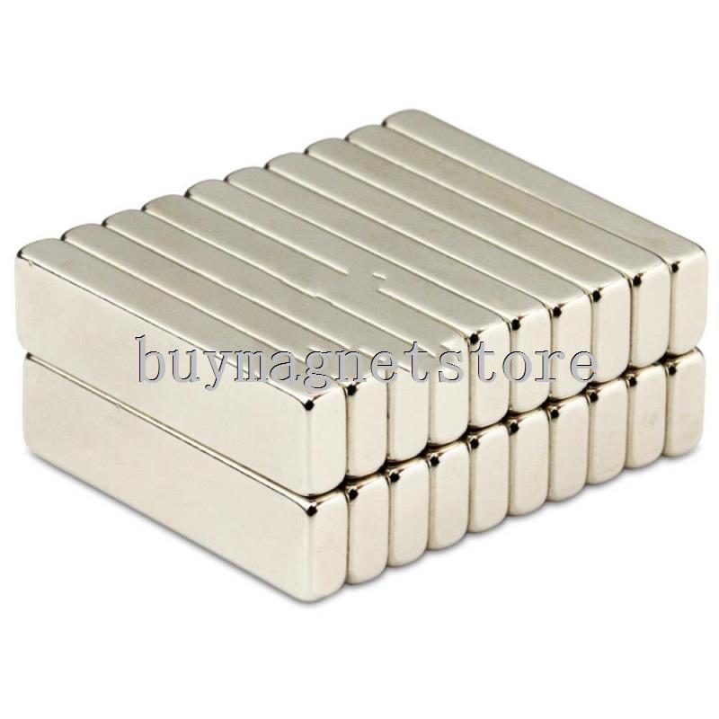 50pcs N52 Bulk Super Strong Strip Block Bar Magnets Rare Earth Neodymium 40 x 10 x 5 mm Lot  ndfeb Neodymneodimio imanes lot 10pcs n52 super strong round cylinder magnets 5 mm x 10 mm rare earth neodymium magnet ndfeb neodymium neodimio imanes