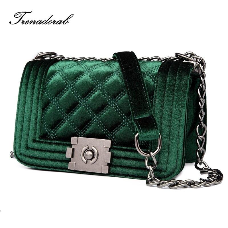 ae39bb1918ae US $38.07 |Trenadorab Velour Crossbody bag Women Bag Luxury Women Handbags  Purse Designer Brand Ladies Chain Velvet Shoulder Messenger Bags-in ...