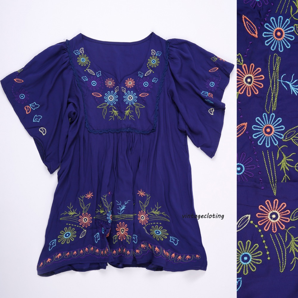 Vintage Mexican Peasant Dress ✓ The Blouse