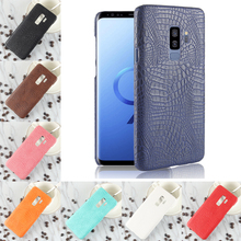 For Samsung Galaxy S9 Plus S9+ Luxury Crocodile PU Leather Skin Hard PC Back Cover protective Phone Case
