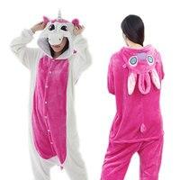 Unicorn Pajamas Sets Flannel Pajamas Winter Nightie Kigurumi Pyjamas For Women Adults