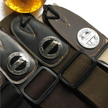 Nylon knitting acoustic guitar straps leather cotton electric guitar strap bass classical
