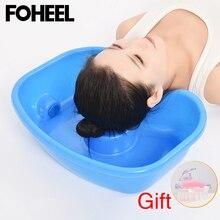 FOHEEL портативная раковина для шампуня для инвалидов, для отдыха на шее, для мытья волос