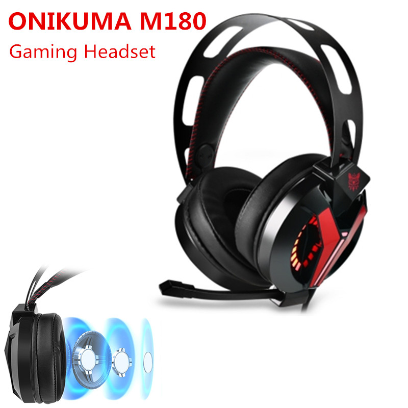 ONIKUMA M180 Stereo PS4 Gaming Headset Casque Over Ear Bass Gaming Headphones With Microphone For PS4 Xbox One PC Phone