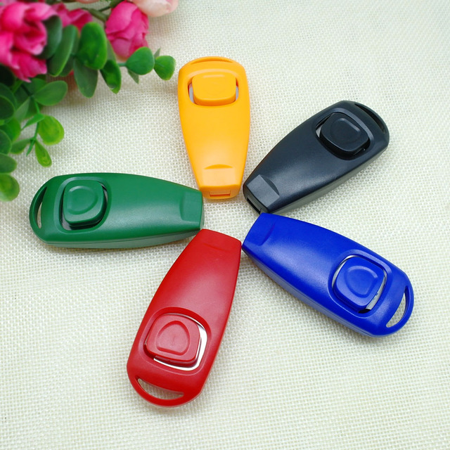 Dog Training Accessories Whistle Clicker Pet Cat Training Clicker with Whistle 5 Color Pack Pet Training Product Dog  Repeller 5