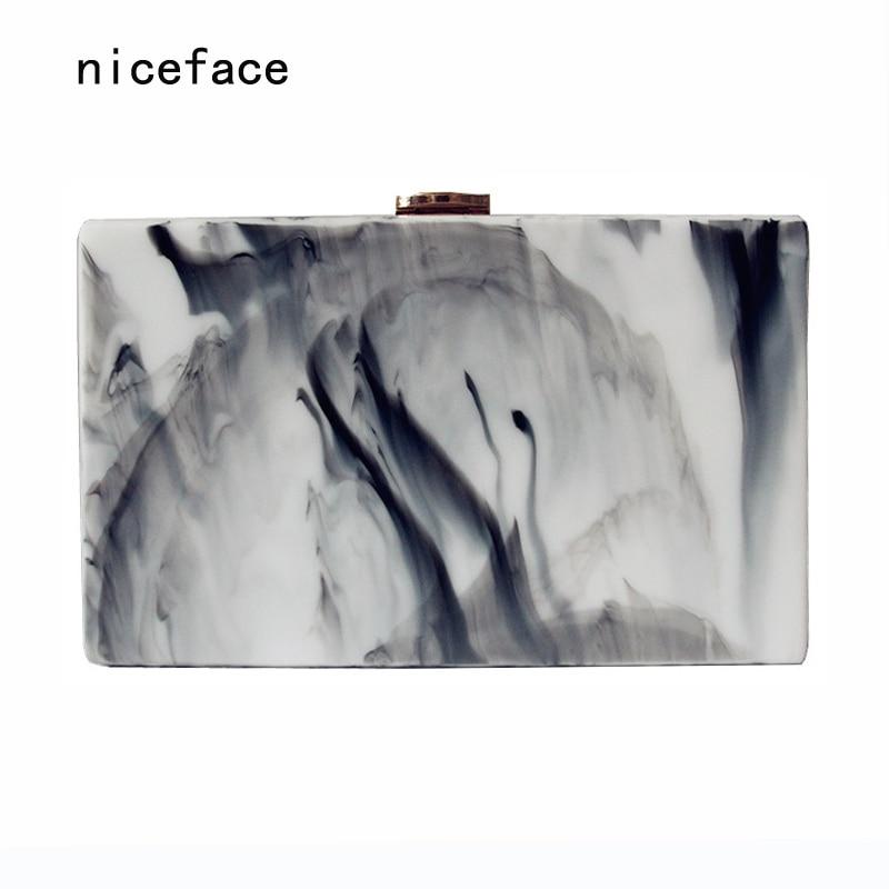 Woman new wallet 2017 brand fashion vintage elegant acrylic handbag lady party Clutch landscape print classic casual Evening Bag