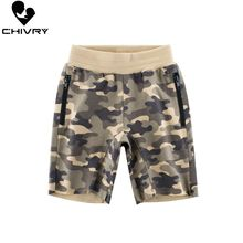 Chivry 2019 Boys Fashion Camouflage Shorts Cotton Kids Trousers Children Pants For Baby Boys Summer Beach Loose Shorts fashion boys camouflage shorts summer cotton trousers kids army cool pants children loose sport camo shorts sweatpants