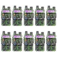 10PCS LOT Baofeng UV 5R Amateur Radio Portable Walkie Talkie UV5R 5W FM Radio 128CH UV