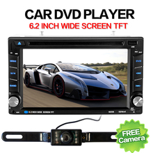 Auto Elektronische 2 din Auto DVD-Player 6,2 inch 2din Universal Autoradio In Dash Bluetooth Stereo Video SWC