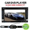 Electrónico del coche 2 din Reproductor de DVD Del Coche 6.2 inch 2din Coche Universal Radio En Dash Estéreo Bluetooth SWC Vídeo