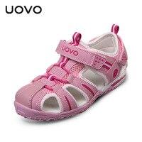 Uovo Baby Boy Sandals Infantil Kids Summer Shoes For Girls Sandals Children Shoes Little Girls Cut Outs Sneaker Beach Sandals