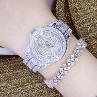 Ladies Fashion Quartz Watch Women Rhinestone Leather Casual Dress Women S Watch Rose Gold Crystal Reloje