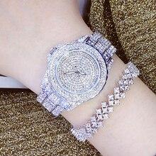 Дамская мода кварцевые часы Для женщин со стразами кожа повседневные платья Для женщин смотреть розовое золото Кристалл Reloje mujer 2016 Montre Femme