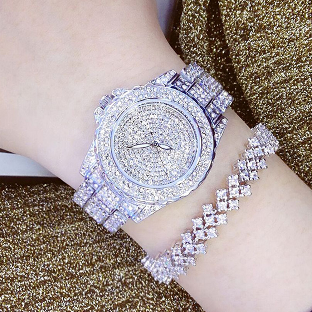 Ladies Fashion Quartz Watch Women Rhinestone Leather Casual Dress Women's Watch Rose Gold Crystal reloje mujer 2016 montre femme ladies fashion brand quartz watch women rhinestone pu leather casual dress wrist watches crystal relojes mujer 2016 montre femme