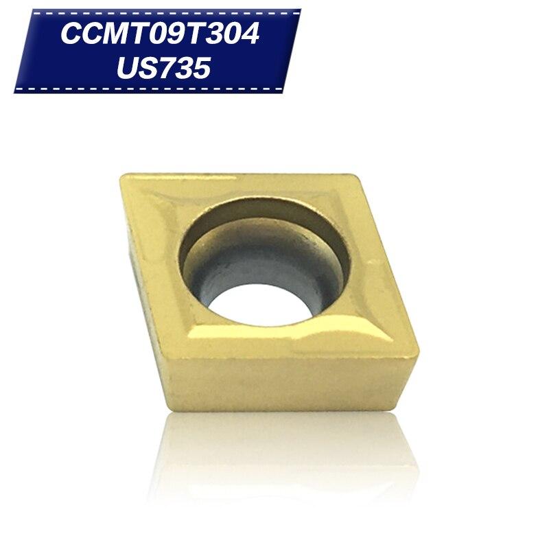 50Pcs Tool insert CCMT09T304 US735 Internal Turning Tools Carbide inserts Cutting Tool Lathe Cutter CNC mill
