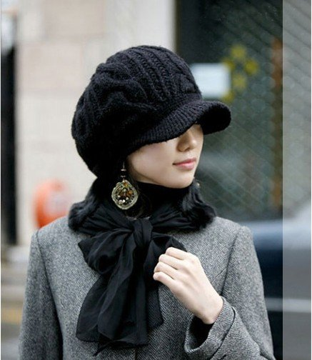 2016 New Arrival Peaked Cap Women Hat Winter Caps Knitted Hats For Woman  Twist Lady s Headwear Delicate 5Colors Cloth Accessory f0a97b5b12b