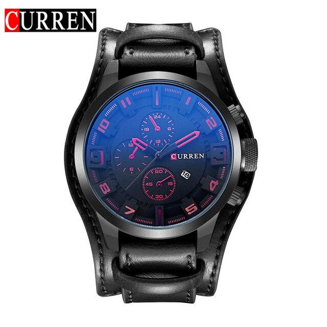2016 Relojes Curren Men's Sports Quartz Watches Mens Watches Top Brand Luxury Leather Wristwatches Relogio Men Watches 8225