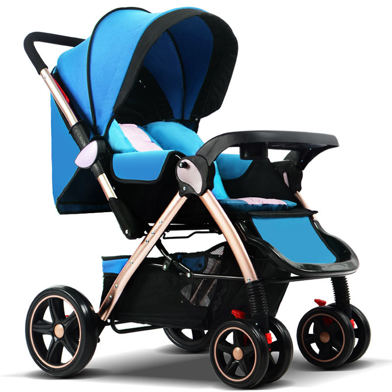 High Landscape Convertible Baby Stroller Can Sit Lie Umbrella Car Baby Trolley Portable Newborn Baby Carriage Pram Wheelchair цена
