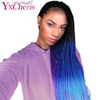 YxCheris Box Treccia Dei Capelli Intrecciare I Capelli Sintetici Ombre Dei Capelli Del Crochet Treccia 22 Strands/Pack 100 Grammi