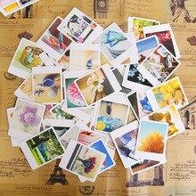 Карта/подарок открытки/спасибо/благословение/сообщение карточки поставки школы винтаж канцелярские шт./лот мини