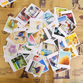 55 pçs/lote mini cartões do vintage set cartão/obrigado/bênção cartão/mensagem/cartão do presente da escola de papelaria suprimentos