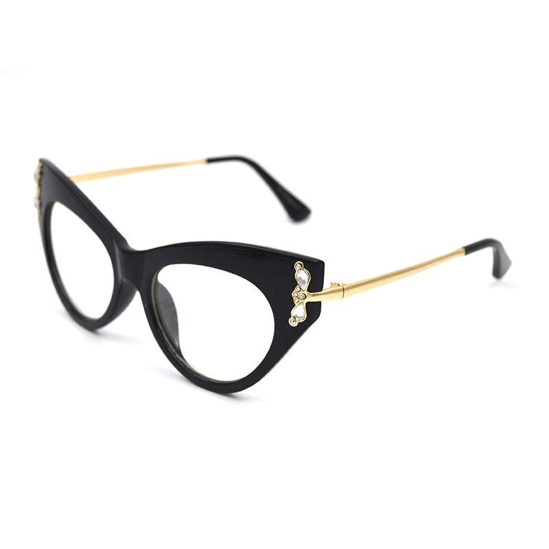 Fashion Anti Blue Ray Radiation Blue Light Blocking Glasses Women Cat Eye Diamond Anti Eye Fatigue Computer Gaming Goggles L3