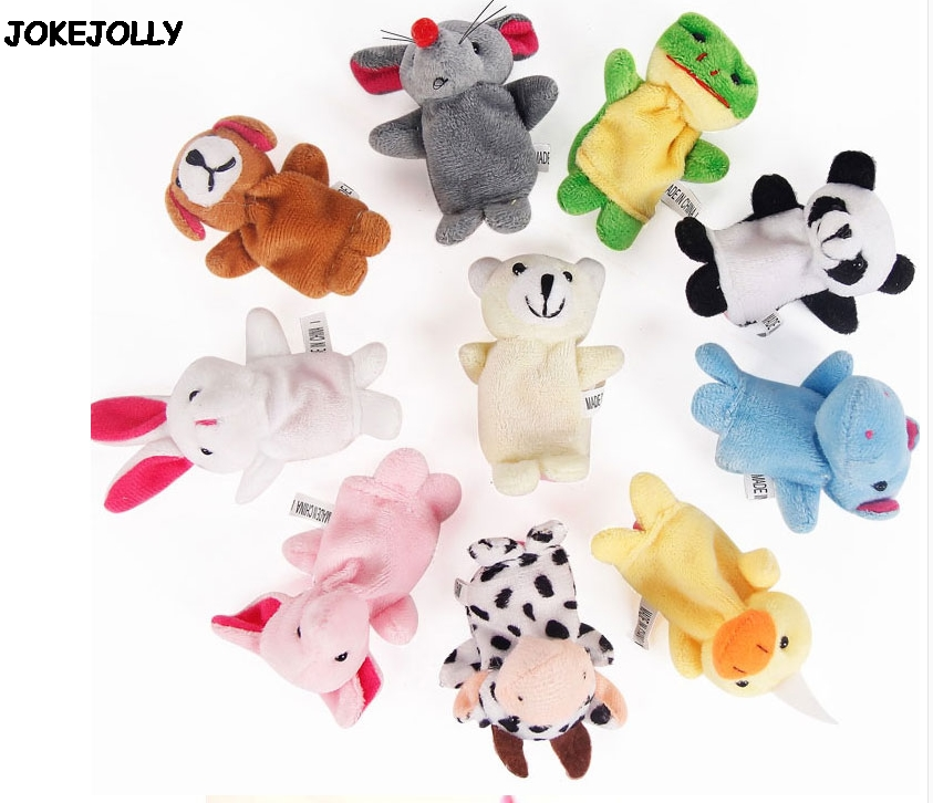 Baby-Plush-Toy-Finger-Puppets-Tell-Story-Props-10pcs-Animals-or-6pcs-Family-Doll-Kids-Toys-Children-Gift-GYH-2