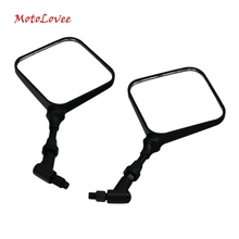 Motolovee Motorcycle Rearview Mirror Scooter Motorbike ATV Back Side Mirrors 10mm Modification Part for honda yamaha kawasaki