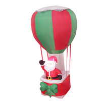 240cm Giant LED Lighted Santa Claus In A Balloon Children Christmas Gifts Halloween Carnival Party Prop